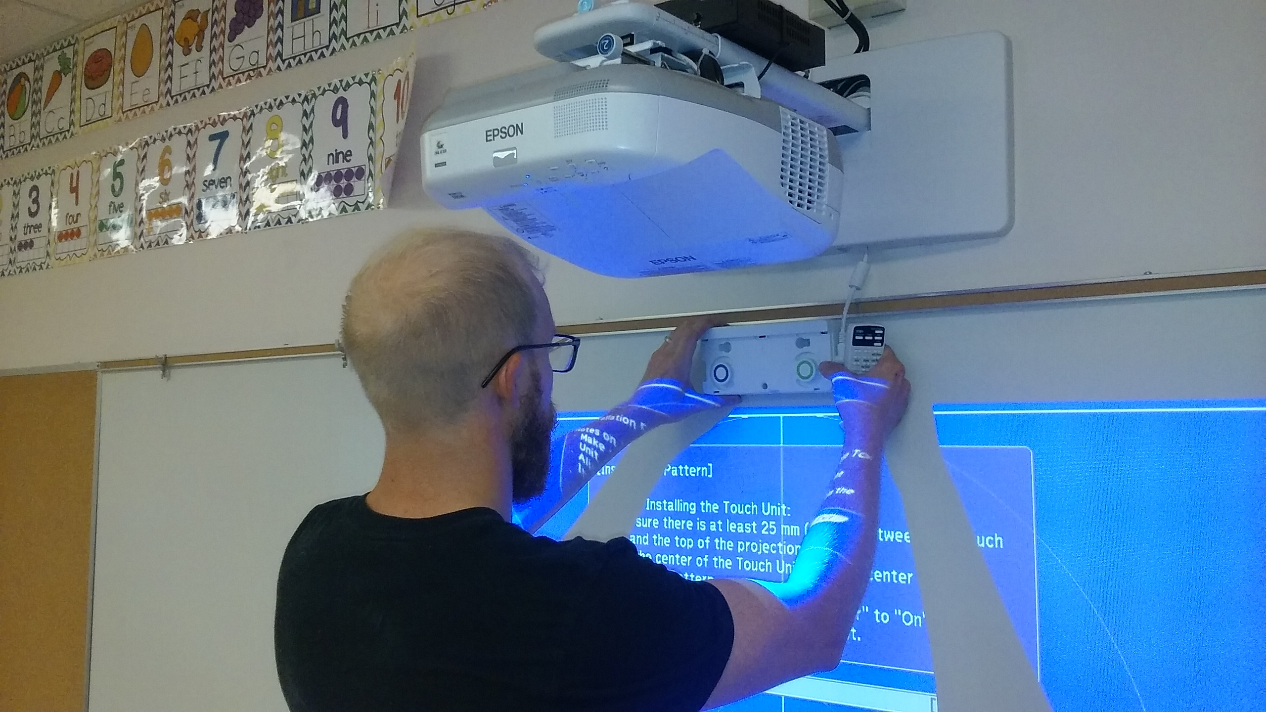 Technical Video Inc. installs the new Espson Brightlink 595Wi Interactive Projectors in Schalmont Schools