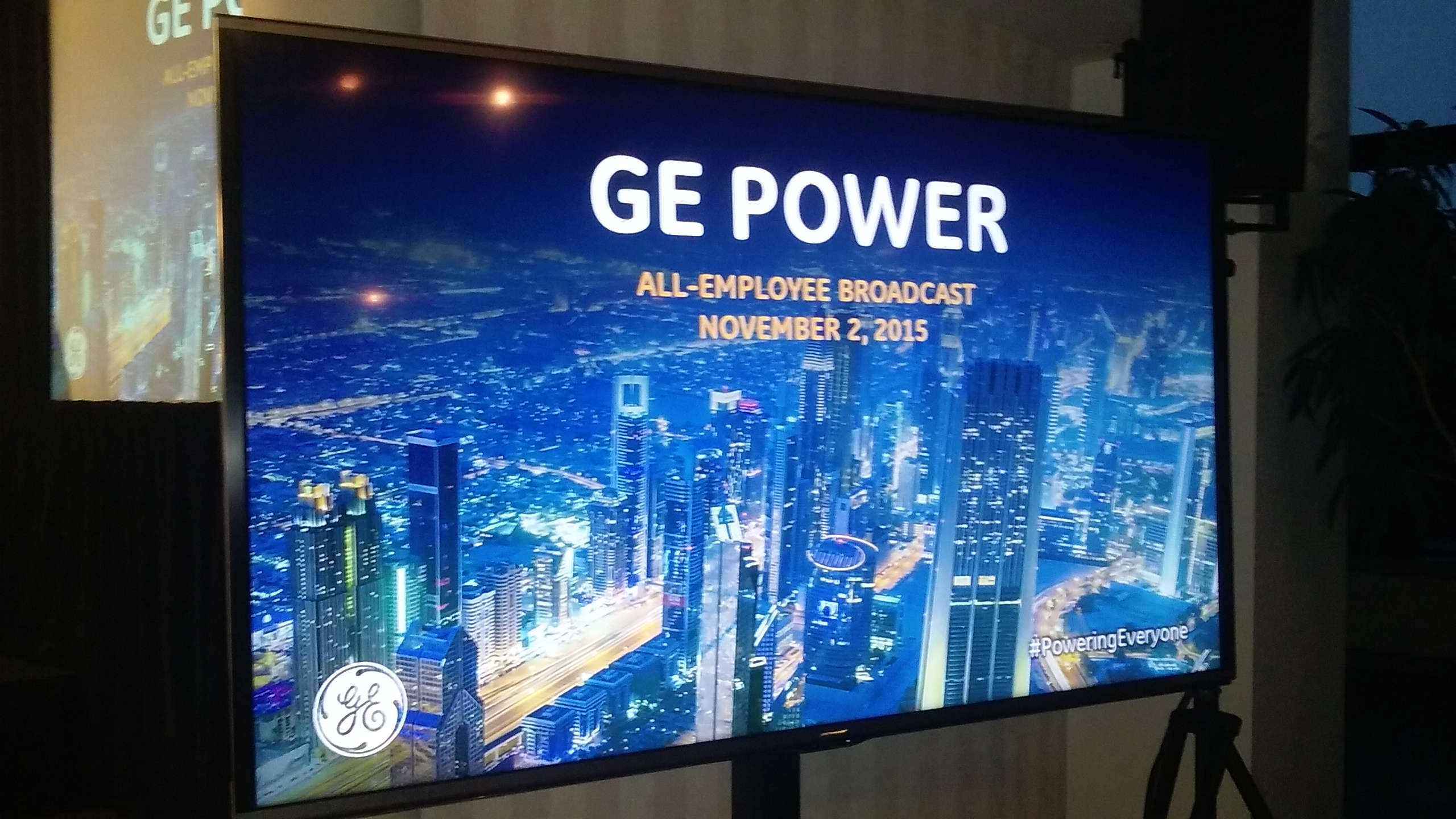 TVI provides event presentation services for GE POWER All-Employee Broadcast