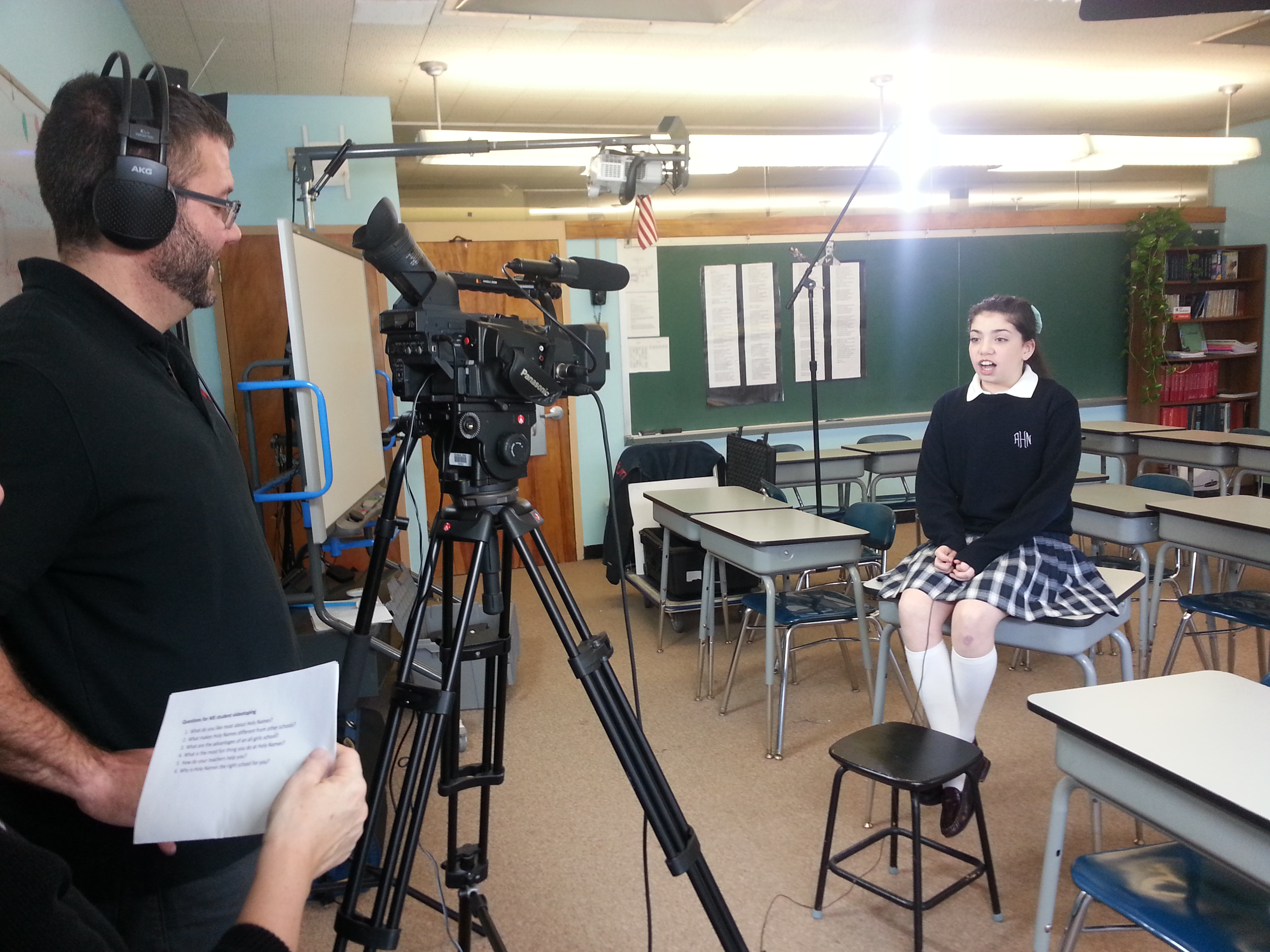 TVI video production spotlights the students of Academy of the Holy Names