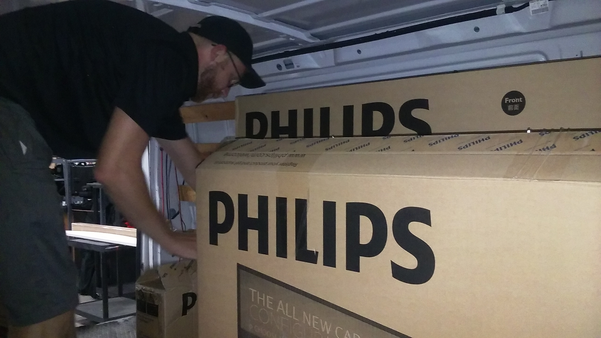 Custom Installation of six Philips Signage Solutions Q-Line Displays