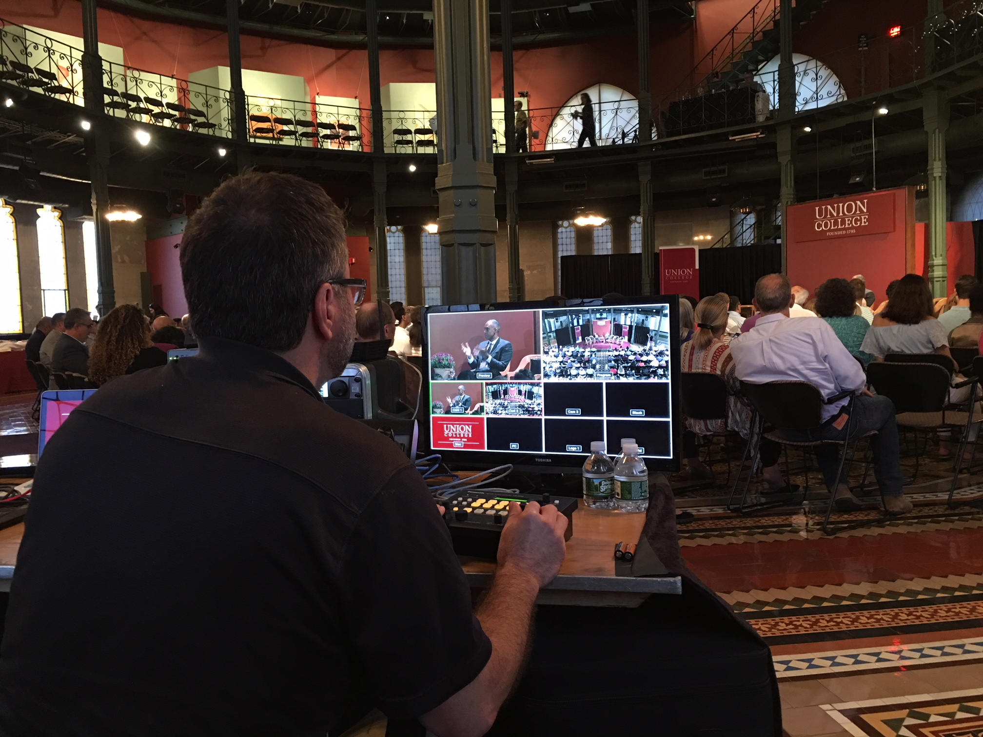 TVI provides audio and video production for the inauguration of the President of Union College