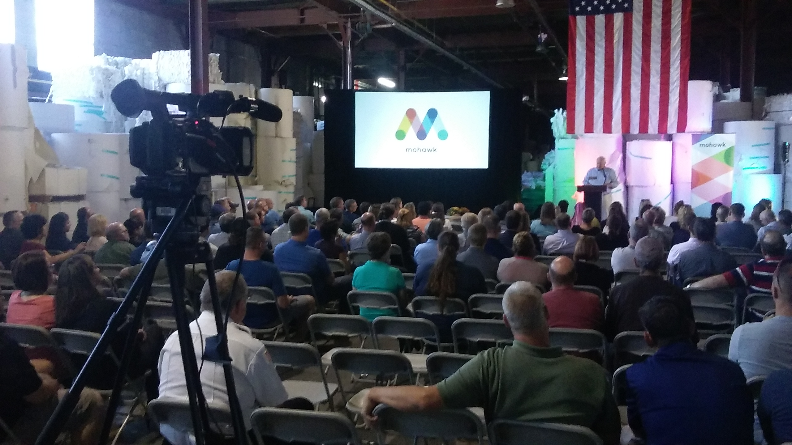 TVI live streams employee meeting at Mohawk Paper